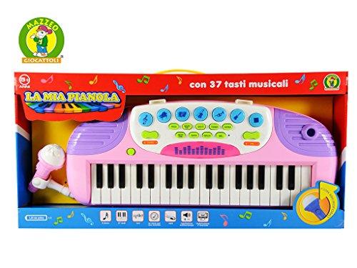 PIANOLA ELETTRONICA CON MICROFONO - LA MIA PIANOLA - MAZZEO GIOCATTOLI