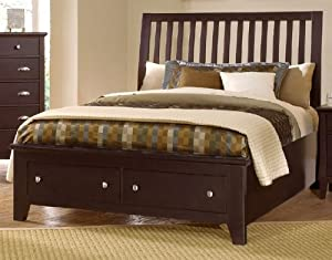 o^) Vaughan Bassett Twilight Collection Eastern King Slat Storage