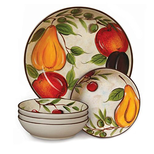 Cafe Naples 5-Piece Pasta Bowl Set Multi-Color