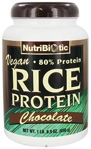 NutriBiotic Vegan Rice Protein Powder Chocolate -- 1.69 lbs