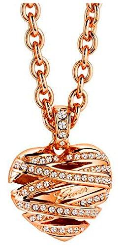 Guess Damen Halskette mit Kristallen Guess Kette Marken Schmuck rose Gold thumbnail