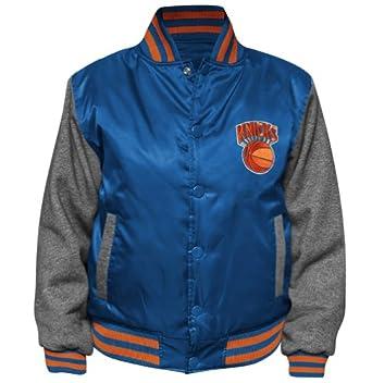 NBA Youth New York Knicks Hardwood Classics Hook Button Satin Jacket by NBA