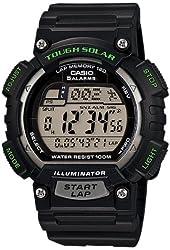 Casio Men's STL-S100H-1AVCF Tough Solar Runner Digital Display Quartz Black Watch