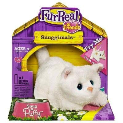 FurReal Amigos Snuggimals Snug Un gatito blanco Puffy