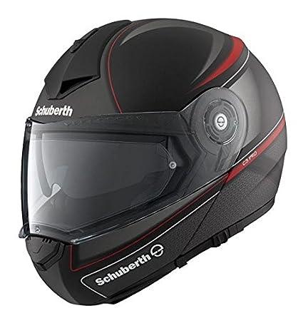 Schuberth C3 casque moto rouge classique Pro noir