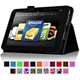 "Fintie Kindle Fire HD 8.9"" Slim Fit Leather Case with Auto Sleep/Wake for Amazon Kindle Fire HD 8.9 (will not fit HDX models) - Black"