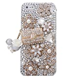 Minisdesign® Grandeur Series iPhone 5 3d Bling Luxury Crystal Rhinestone Coco Bag Design Diamond Case, Cover for the New Apple iPhone 5 (Package includes: 1 X Screen Protector and Extra Rhinestones)