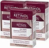 Retinol Anti-aging Cleansing Towelettes, Three 30 Count Boxes