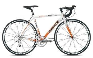 Whistle Modoc Sora-18 Mens Road Bike - White/Orange, 51-cm
