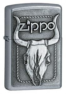 Bull Skull Windproof Lighter by Zippo