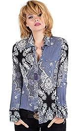 Slate Grey Ornamental Paisley Shirt