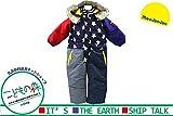 【子供服】 moujonjon (ムージョンジョン) はっ水加工星柄デニム風切替スノーコンビ 90cm~120cm M62182