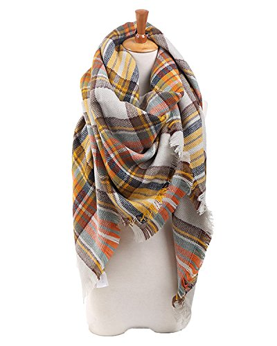 [Spring fever Winter Luxurious Classic Vintage Style Cashmere Feel Large Scarf A01] (Womens Halloween Ideas)