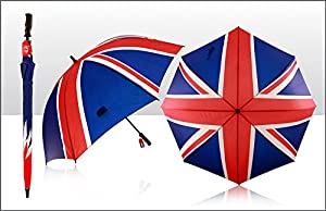 Great British Golf Umbrella Union Flag (Union Jack) Design. High Quality as used by crowd members lining the streets of London during Jubilee weekend UK