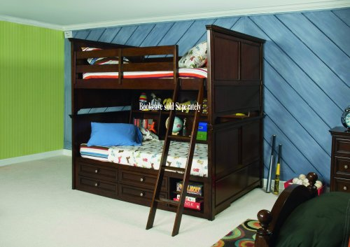 Beautiful Lea Kids Covington Twin Bunk Bed with Storage R