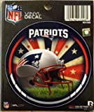 "New England Patriots NEW FIELD 4"" Round Decal Bumper Sticker Football Helmet"