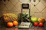 HemingWeigh Electronic Kitchen Scale with Timer, Clock, Volume, and Tempera ....