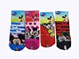 Mickey Mouse Socks - Kids Novelty Socks ( 3 Pair ) Size 4-6
