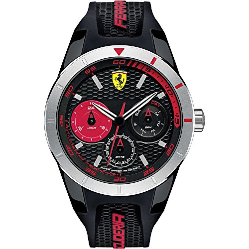 Scuderia Ferrari Orologi Herren-Armbanduhr Red Rev T Analog Quarz Silikon 0830254