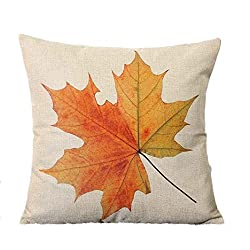 AutumnFall Maple Leaf Printed Sofa Bed Home Decoration Festival Pillow Case Cushion Cover (# 2)