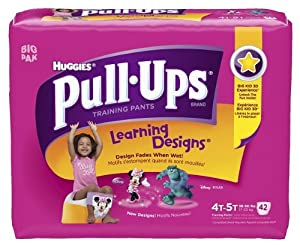 Huggies Pull-Ups Learning Design Training Pants, Size 4T-5T, Girl, 42 Count (Pack of 4)