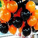 ハロウィン飾り風船黒オレンジセット(2:黒20個、オレンジ20個)