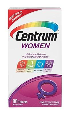 Centrum Women, Complete Multivitamin & Mineral Supplement, 90 Tablets