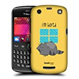 Head Case Bored Wilbur The Cat Design Back Case Cover For Blackberry Curve 9360