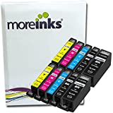 10 Cartouches d'encre compatibles de qualité pour Imprimante Canon Pixma MG5350 - Cyan / Magenta / Jaune / Noir- Avec Puce