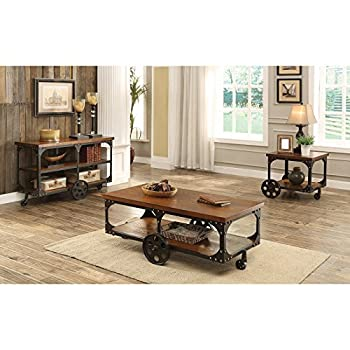 Coaster 701128 Home Furnishings Coffee Table, Rustic Brown
