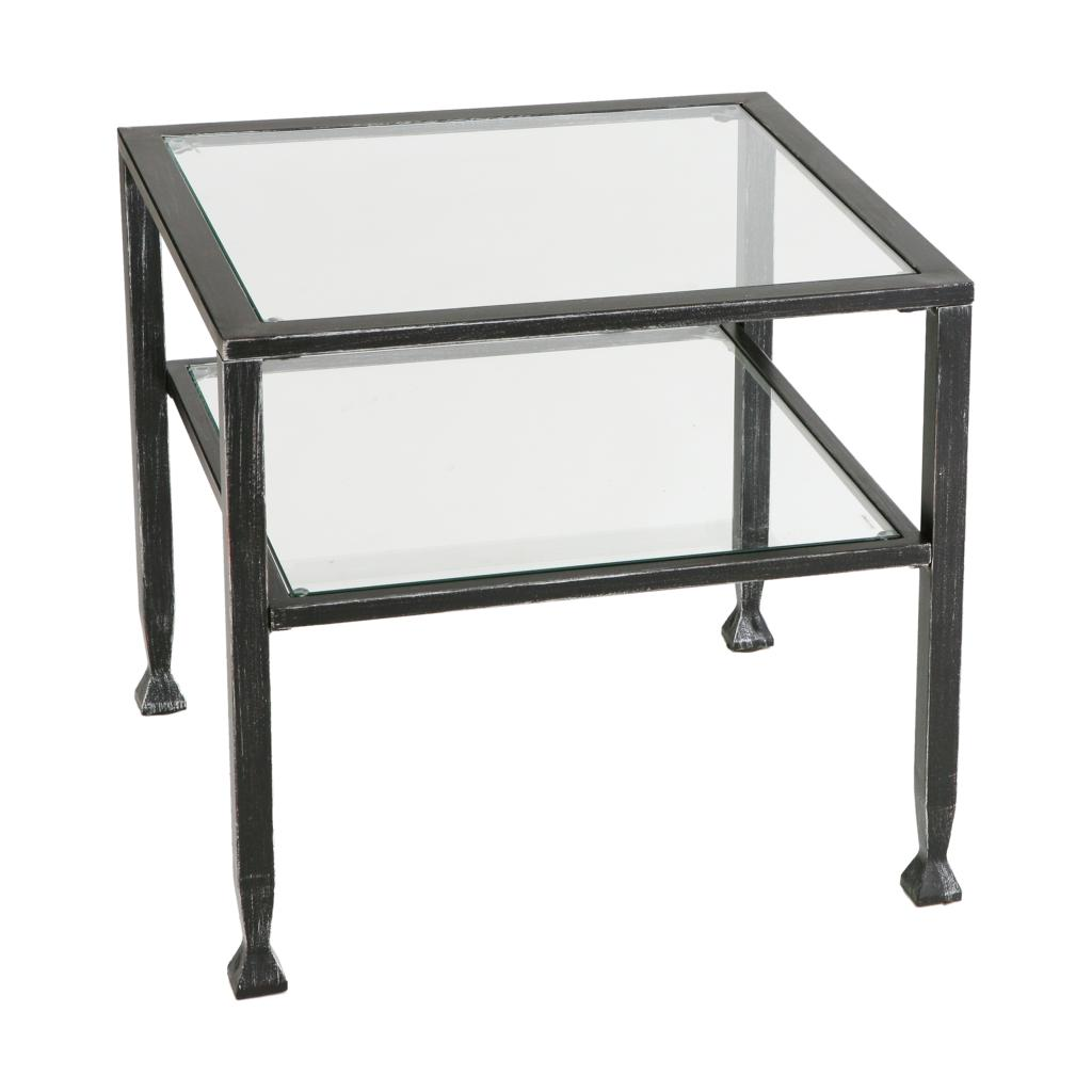 Sei bunching metal cocktail table coffee tables Metal and glass coffee table
