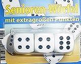 3er Pack Würfel Senioren Würfel mit extra großen Punkten