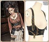 Steampunk-Costumes-Punk-Vintage-Christmas-Outfits-Vest-Top-Corest-Bustier-Black