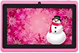 Osgar Ultrathin 7 inch 16GB Tablet PC,Google Android 4.4 KitKat OS, Allwinner A33 Quad Core CPU, 800x600 Multi-touch Screen, Dual Camera, Wifi ,3D Games supported (Pink)