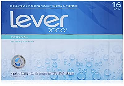 Lever 2000 Moisturizing Bar, Perfectly Fresh Original, 4-ounce Bars in 16-count Package