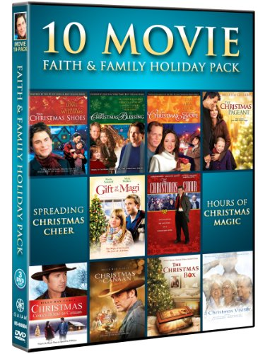 51Z80tvLXvL Faith & Family Holiday Movie 10 Pack (The Christmas Shoes, The Christmas Blessing, The Christmas Hope, The Christmas Box, Christmas Comes Home To Canaan, A Christmas Visitor, Christmas in Canaan, The Christmas Pageant, Gift of the Magi, Christmas Choir)