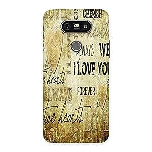 Ajay Enterprises Love Design Type Back Case Cover for LG G5