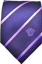 cb59513d9a3ae Shopping 2014 Versace Ve 40307 Purple Striped Pattern Silk Men's ...