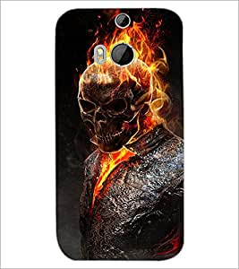 HTC ONE M8 EYE GHOST Designer Back Cover Case By PRINTSWAG
