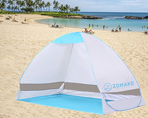 ZOMAKE-Outdoor-Automatic-Pop-up-Instant-Portable-Cabana-Beach-Tent-2-3-Person-Camping-Fishing-Hiking-Picnicing-Anti-UV-Beach-Tent-Beach-Shelter-Sets-up-in-Seconds