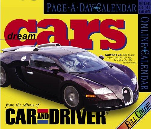 Dream Cars Page-A-Day Calendar 2007