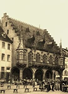 Freiburg im Breisgau - 3 historische Fotografien um 1900 (Reproduktionen) - der Markt / der Waldsee / die Universität - Format 13x18 cm