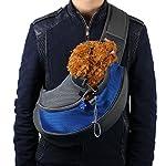 Tonsee Pet Dog Cat Puppy Carrier Mesh Travel Tote Shoulder Bag Backpack (L, Blue)