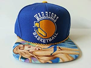 Mitchell and Ness NBA Golden State Warriors Custom Snapback Cap, Hat: Mermaid by Mitchell & Ness