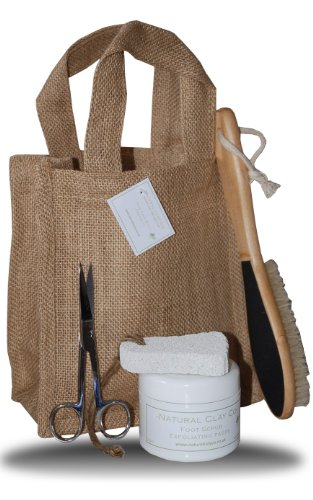 Complete pedicure gift set with natural jute bag & tags