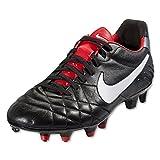 Nike Tiempo Legend IV FG Soccer Cleats ACC (Black/Challenge Red/White)/サッカースパイク  ティエンポ  レジェンド  IV  FG (7- 25.0cm)