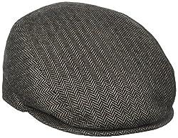 Stetson Men's Wool Herringbone Ivy Cap, Brown, X-Large