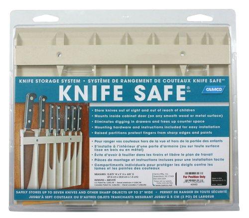 """Camco 43583 Knife Safe (9"""" X 11"""", Beige)"""