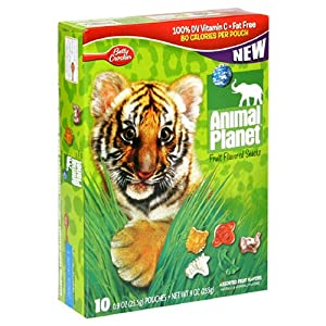 Fruit Shapes Fruit Snacks, Animal Craze, 9-Ounce Boxes (Pack of 10)