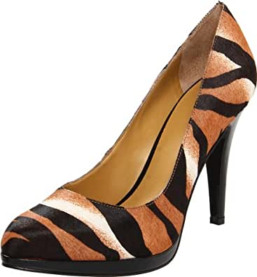 Nine West Women's Rocha Pump,Natural Multi Pony,5.5 M US